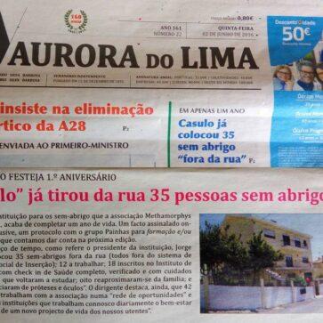 """1 Ano de """"Casulo"""" para sem Abrigos, muito obrigada Aurora do Lima"""